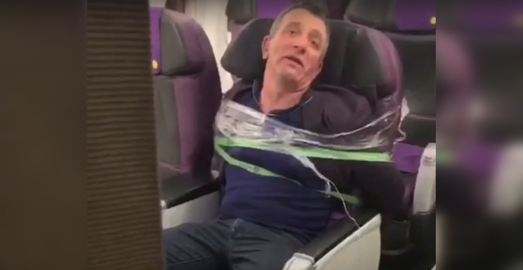 Intoxicated passenger duct-taped to seat after trying to break into cockpit