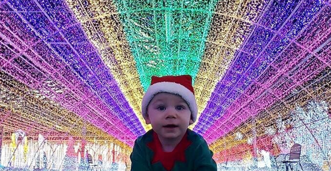Wander through an elaborate indoor light display at this winter festival