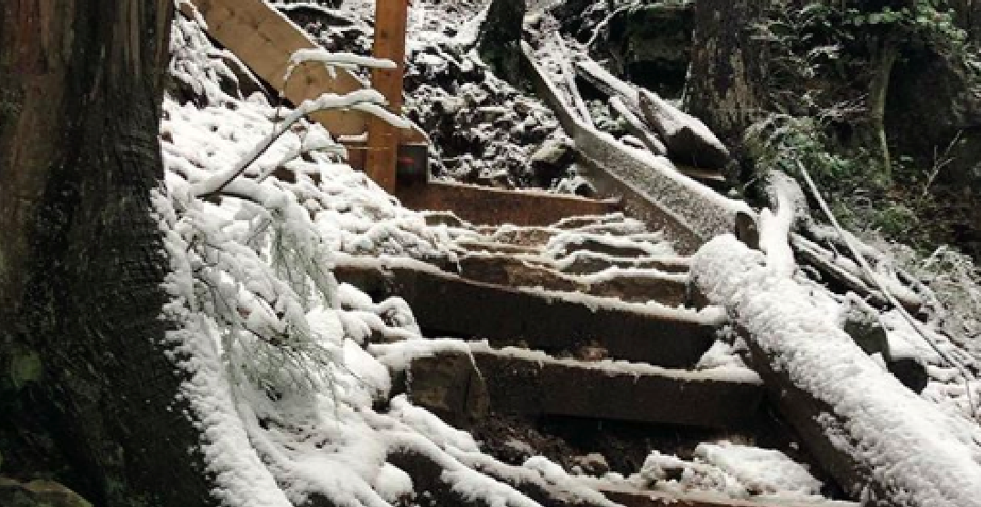 Grouse Grind trail closed due to ice and snowy conditions