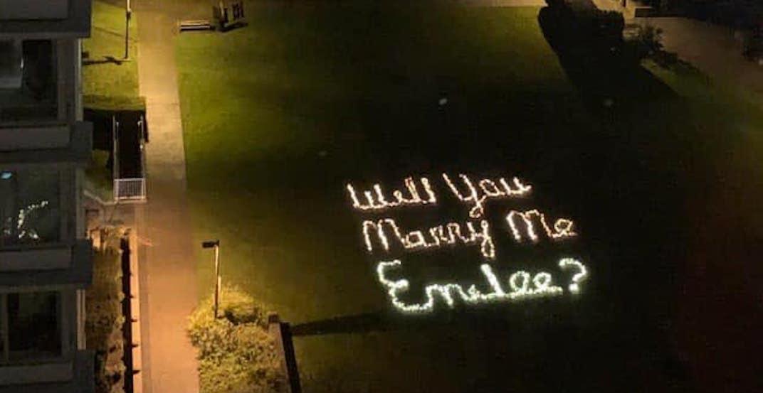 This massive illuminated proposal in Coal Harbour is peak romance (VIDEO)