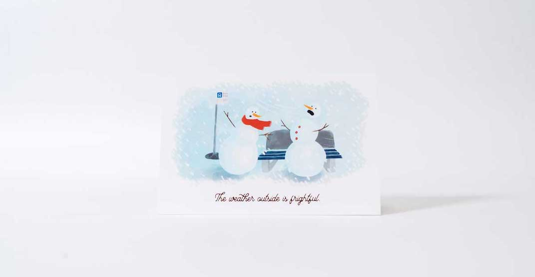 """These """"unhappy holiday cards"""" come with an Edmonton-themed twist"""