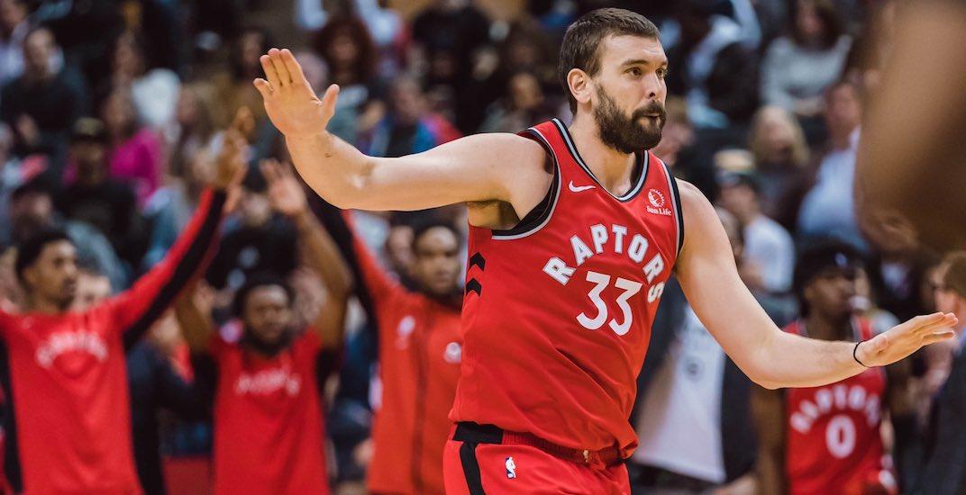 "Raptors lose Marc Gasol for ""weeks"" with hamstring injury: report"