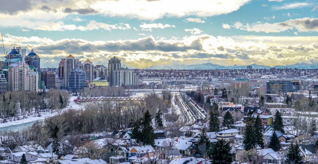 15 cm of snowfall is blowing its way into Calgary this week