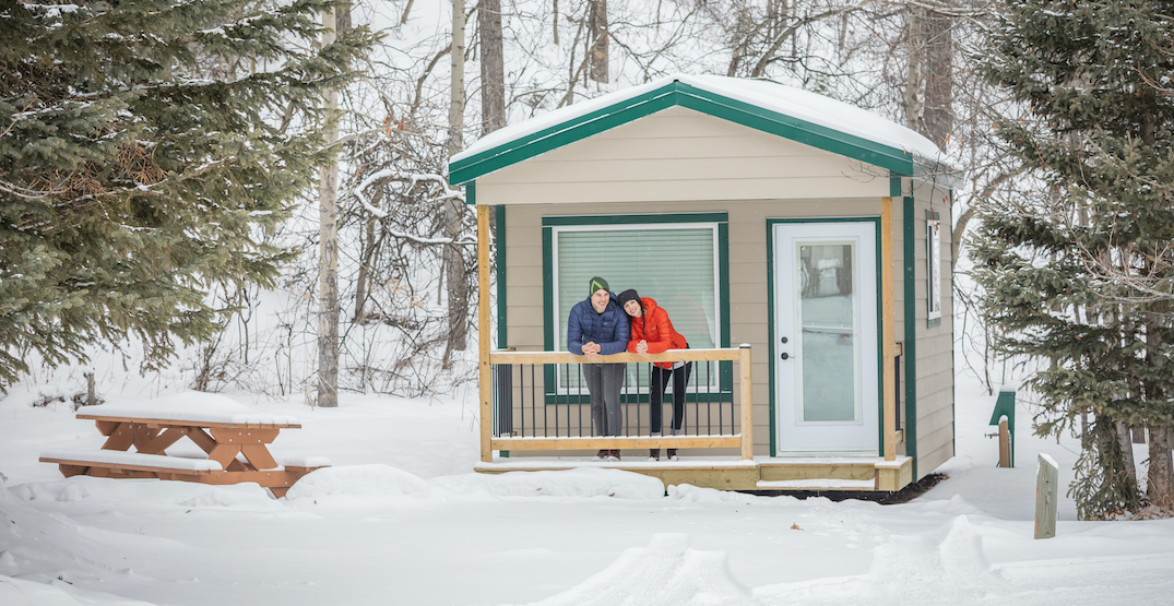 Camp under the stars at Alberta Parks' cosy winter cabins