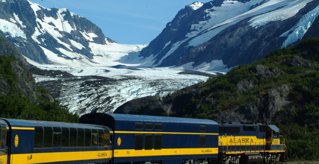 Experience the mountains and northern lights on this train in Alaska