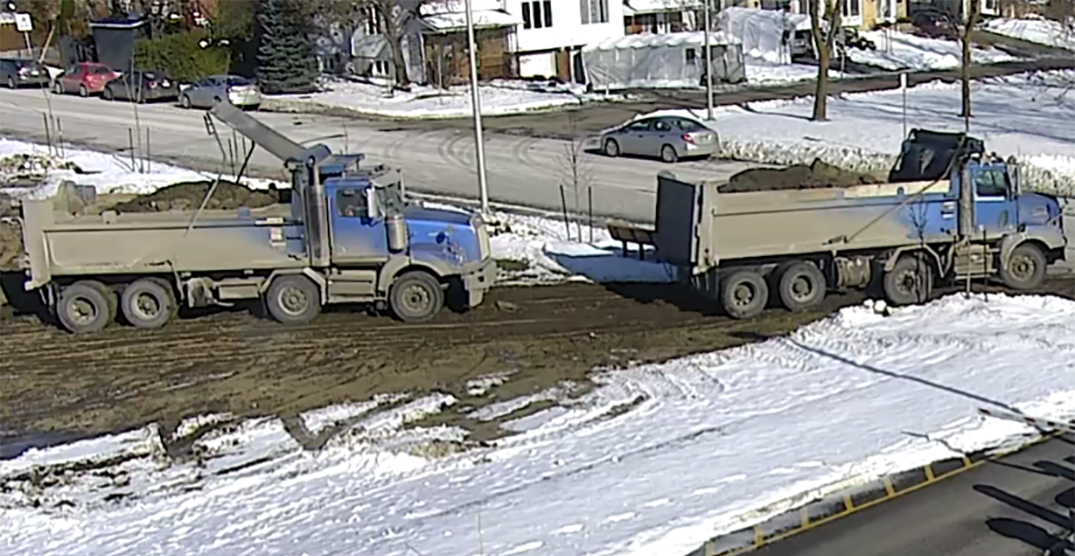 2 trucks wanted for illegally dumping waste on hospital grounds in Laval: police