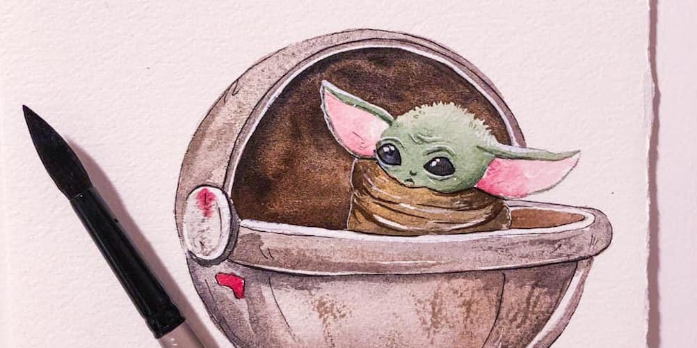 You can drink wine and paint Baby Yoda at this Seattle event next month