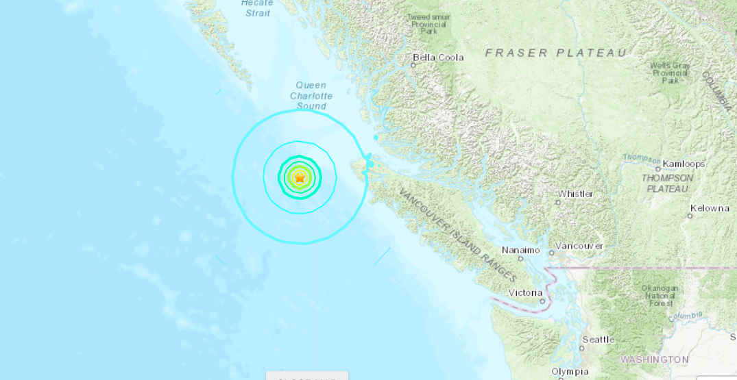 No tsunami expected after fourth earthquake hits BC coast in four hours