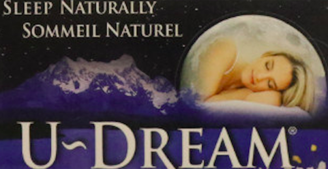 "Health Canada recalls U-Dream sleep aid because of ""serious health risks"""