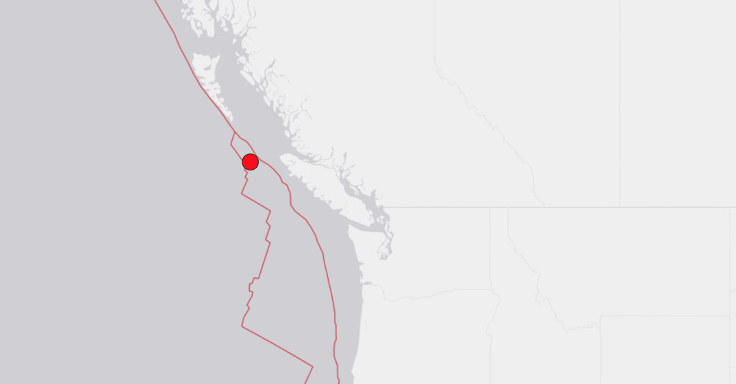 9 earthquakes strike the coast of British Columbia over 3-day span