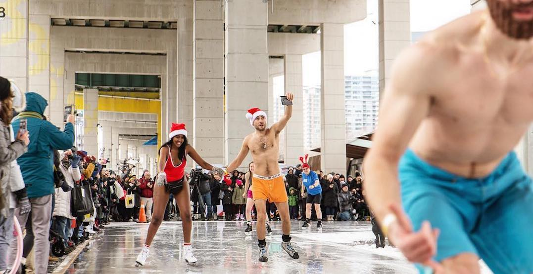 You can skate in your underwear below the Gardiner on December 29