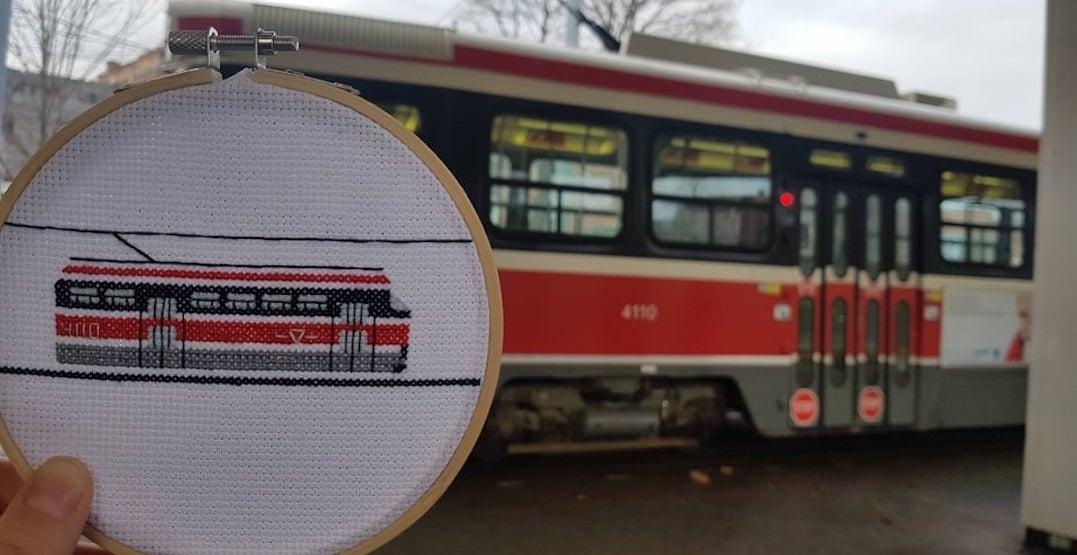 Someone created a cross-stitched TTC legacy streetcar (PHOTO)