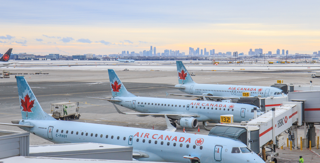 Flight cancellations and delays at Pearson Airport due to inclement weather