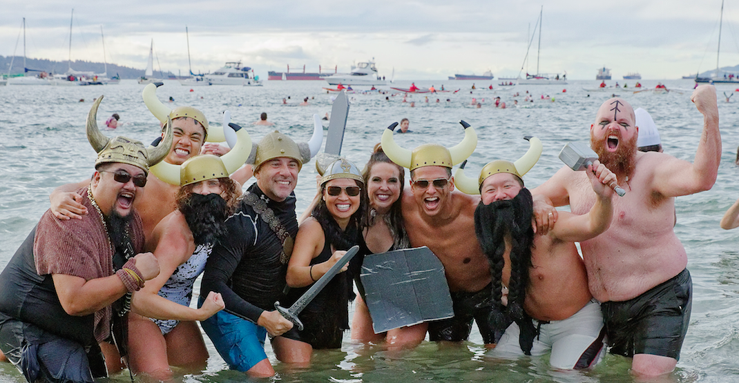 Vancouverites strip down for 100th annual Polar Bear Swim (PHOTOS)