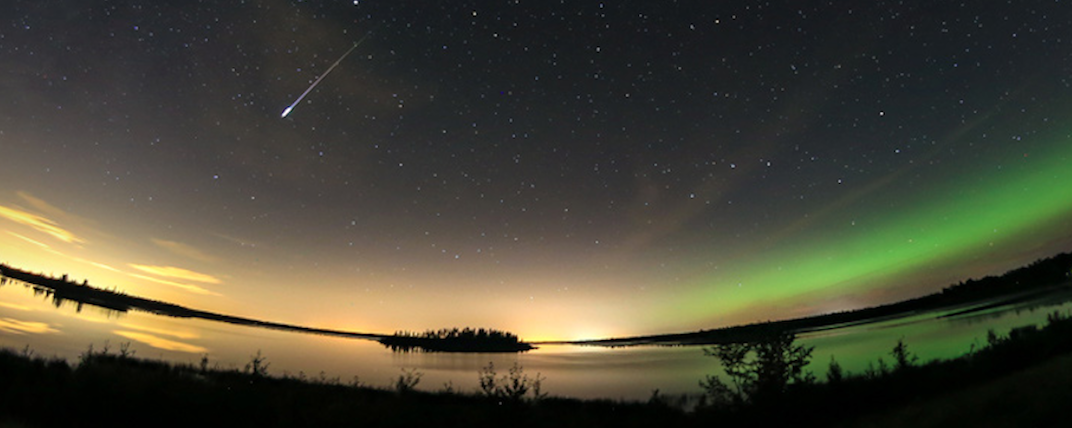 You can stargaze during a guided snowshoe tour around Astonin Lake