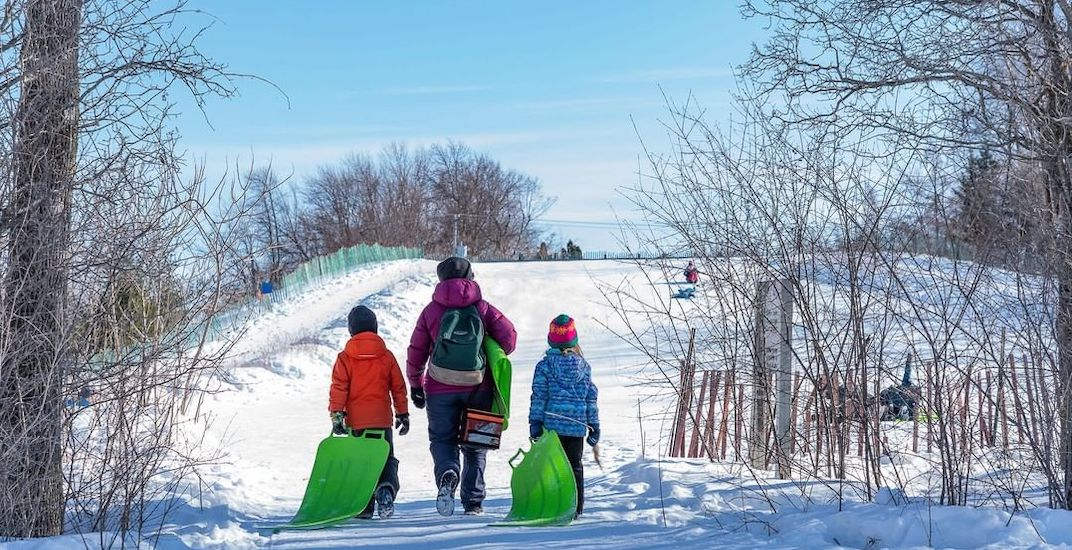 You can take a shuttle bus to Montreal's largest natural park all winter