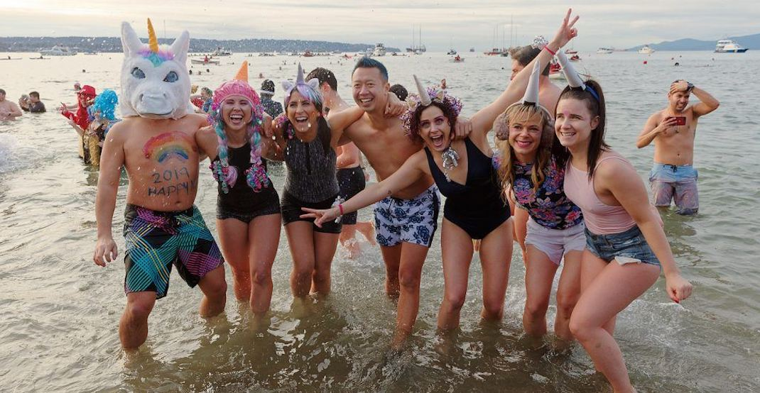 Record breaking 6,500 swimmers attend 100th annual Polar Bear Swim in Vancouver