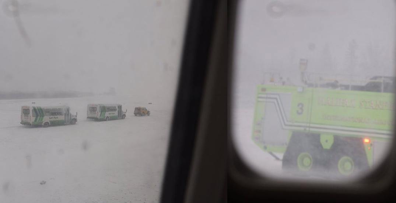 Flights cancelled after WestJet plane slides off Halifax runway