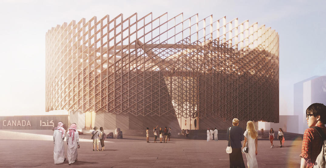 This is the design of the Canada Pavilion at Expo 2020 Dubai