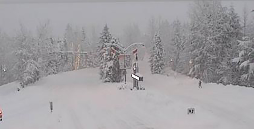 Winter storm to bring up to 30 cm snowfall to Sea to Sky Highway