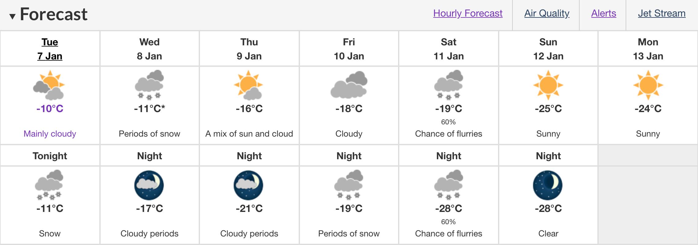 snowfall Edmonton