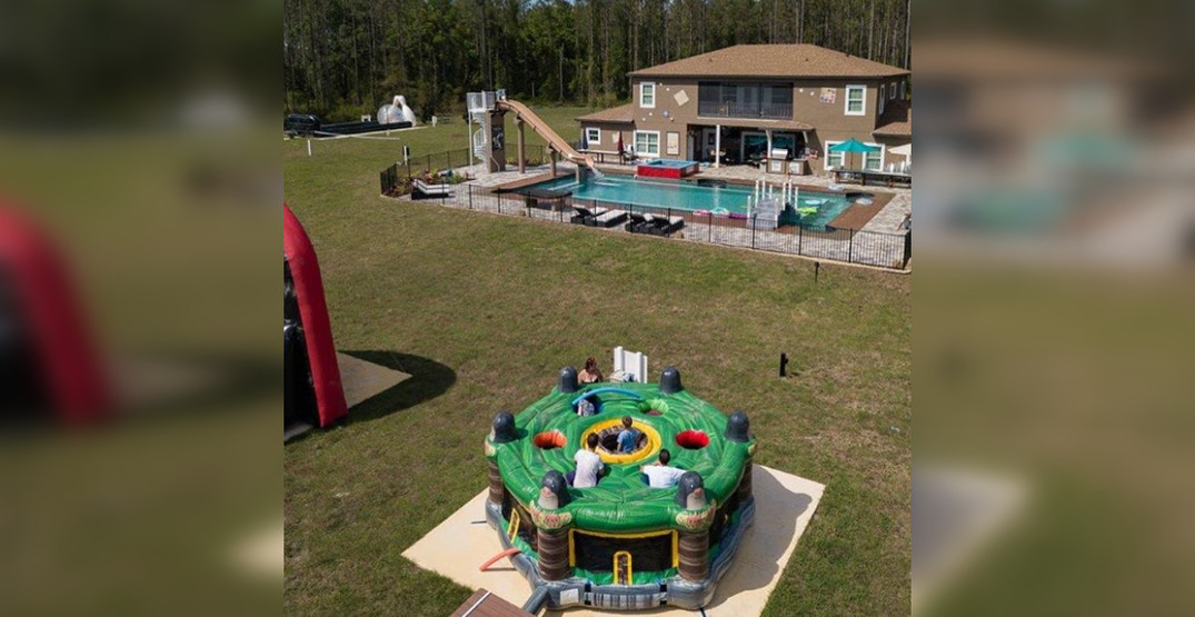 This game-themed Airbnb comes with a lazy river and 2 escape rooms