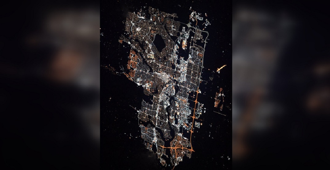 Calgary was just given a shoutout from the International Space Station