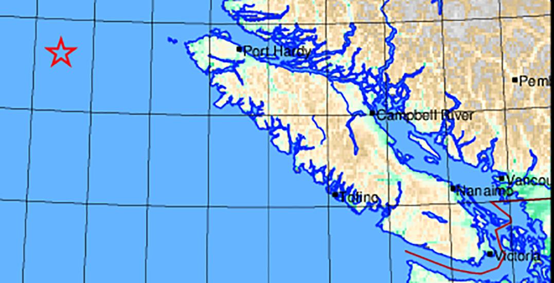 Magnitude 4.8 earthquake strikes off coast of Vancouver Island