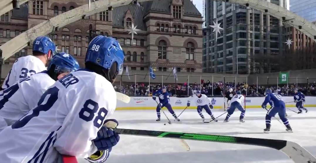 Here's what the Maple Leafs practice at Nathan Phillips Square looked like (PHOTOS)