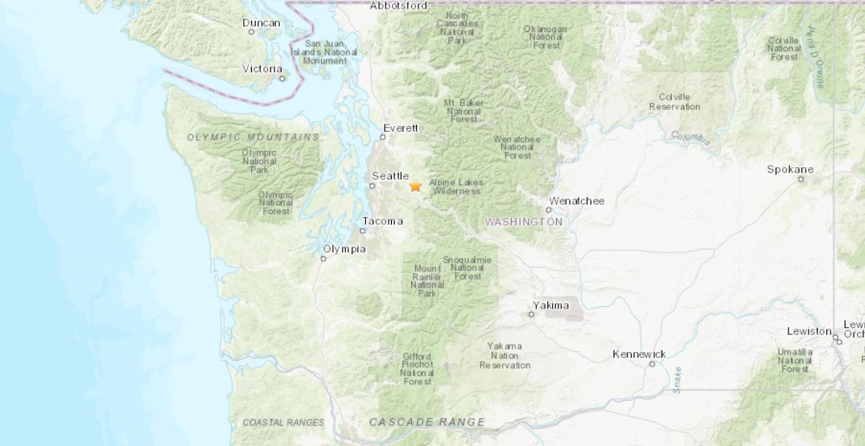 Magnitude 2.7 earthquake strikes Washington
