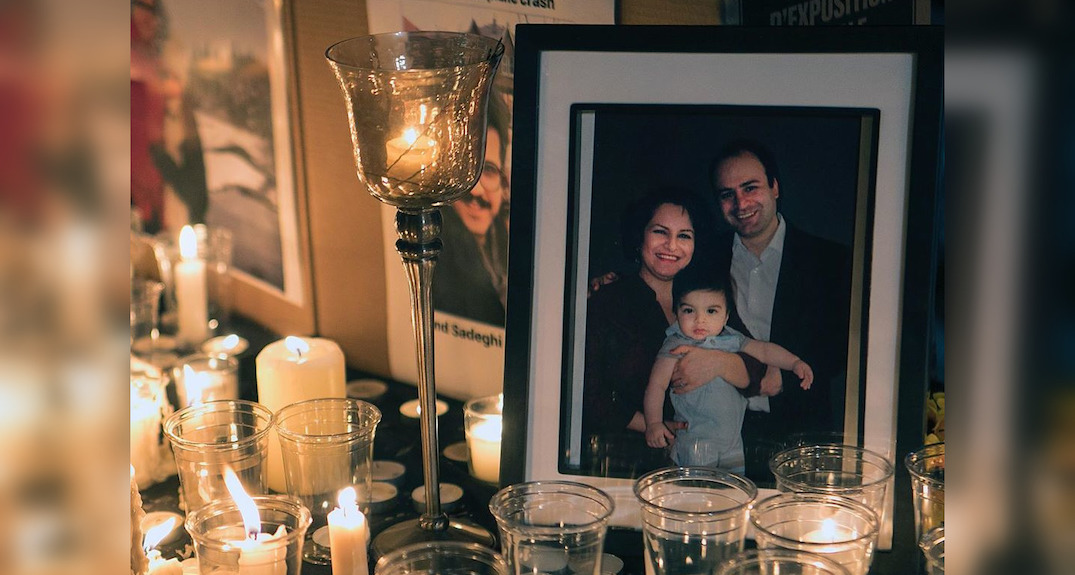 Concordia and McGill hold candlelit vigil for Ukrainian flight victims