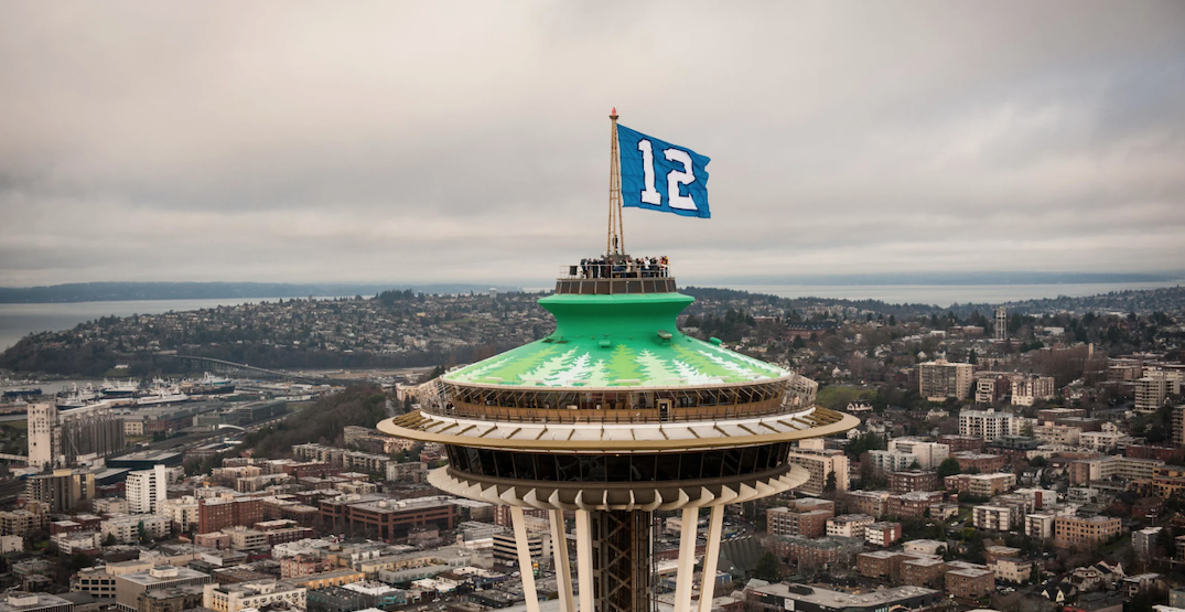12 Flag to fly atop the Space Needle in honor of tomorrow's playoff game
