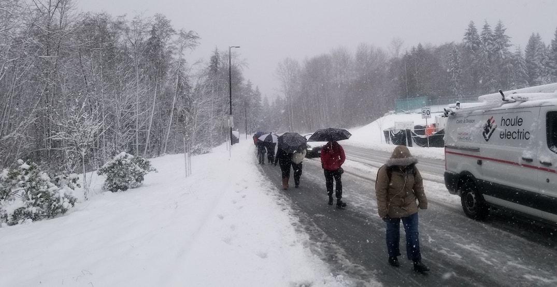 sfu burnaby mountain snow