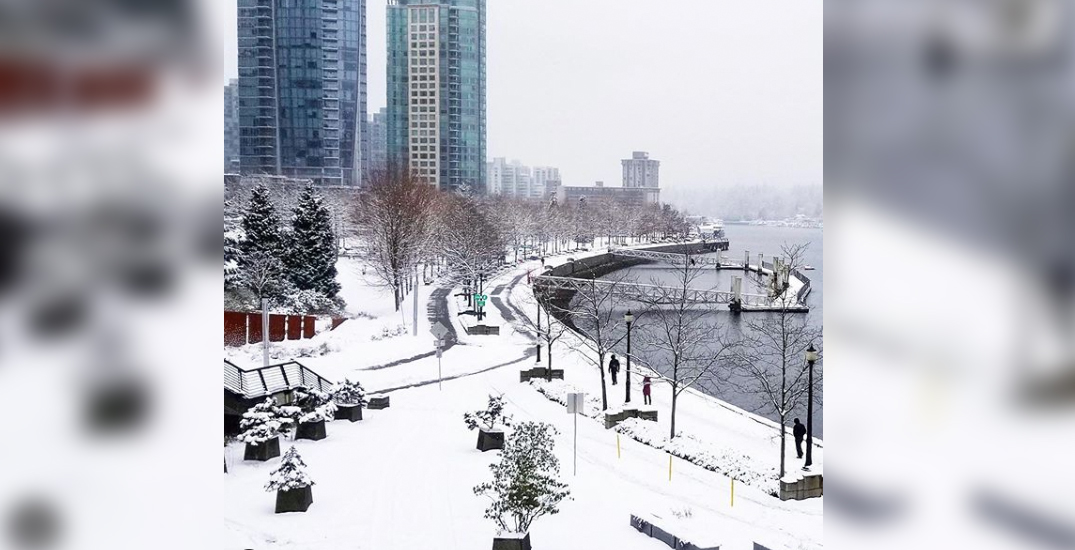 Vancouver got a dump of snow overnight, and more is on the way (PHOTOS)