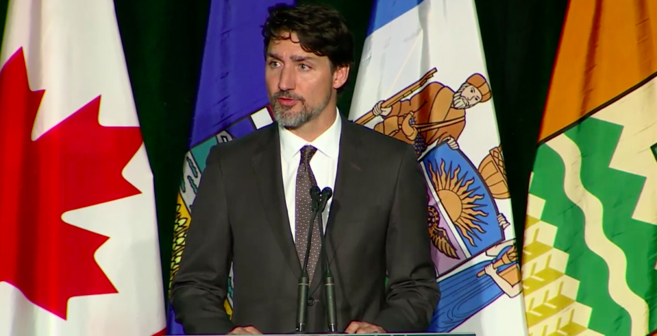 """All Canadians are mourning your loss:"" Trudeau speaks at Iran plane crash memorial"