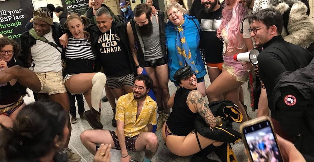 The 2020 No Pants Subway Ride took over the TTC this weekend (PHOTOS)
