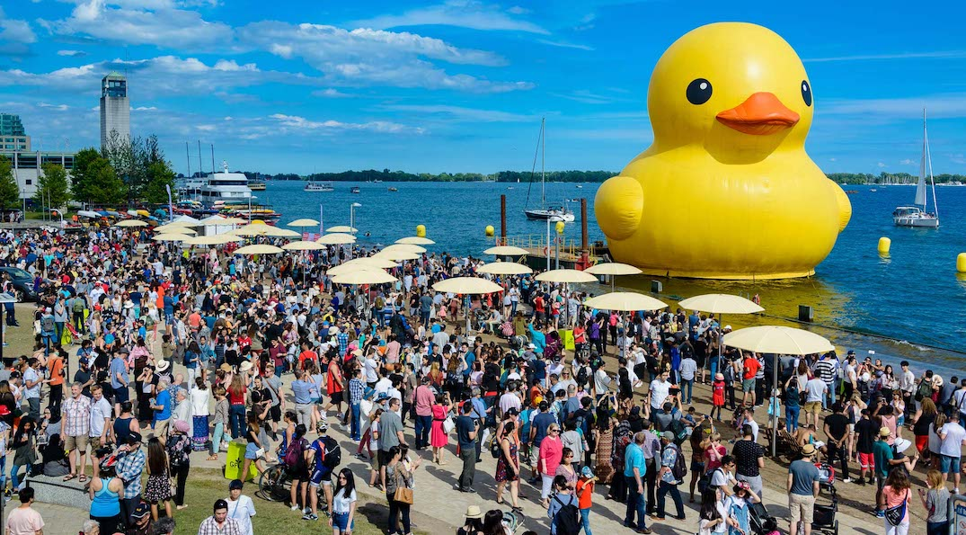 The world's largest rubber duck returns to Toronto this summer