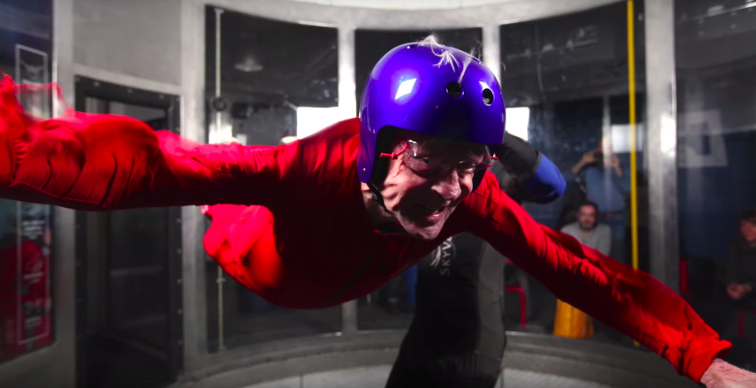 Former Prime Minister Jean Chrétien celebrates 86th birthday by indoor skydiving (PHOTOS)