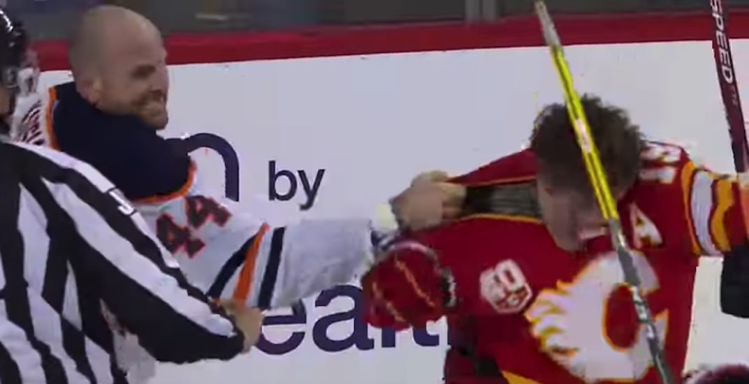 Oilers' Kassian suspended 2 games after fighting Flames' Tkachuk