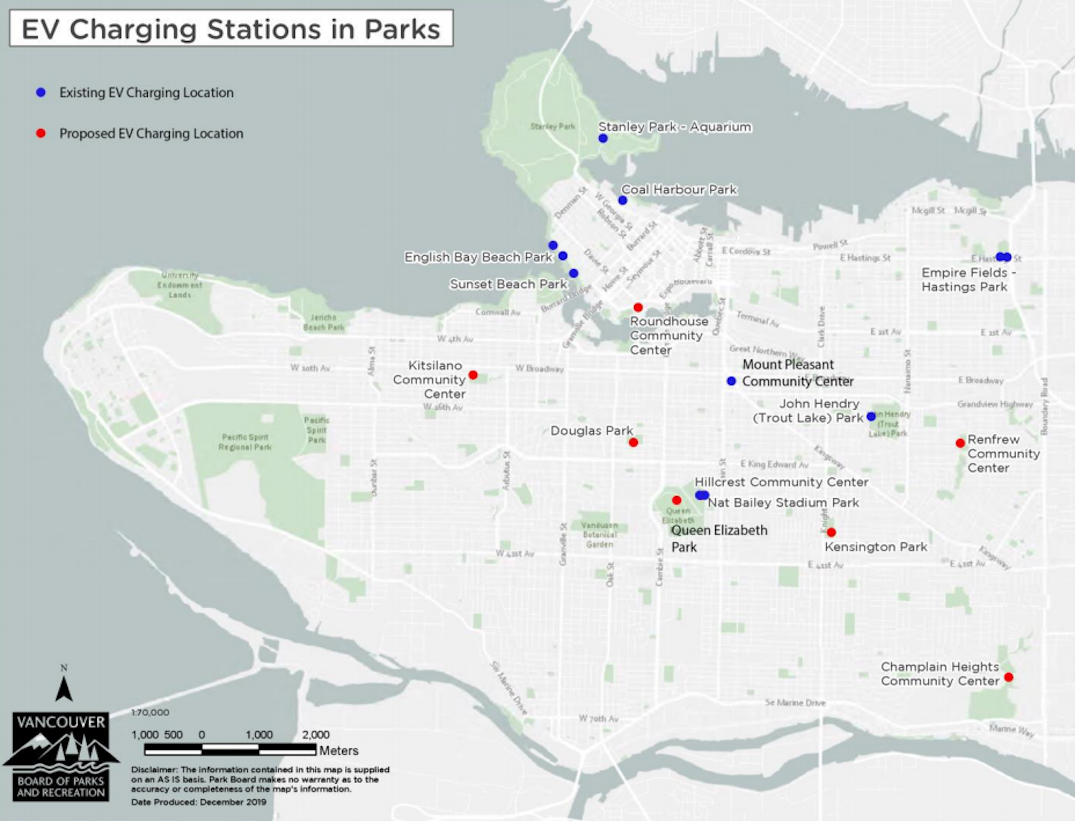 vancouver park board electric vehicle charging stations map 2020