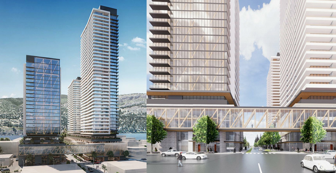 3-tower redevelopment up to 435 ft proposed for downtown Kelowna