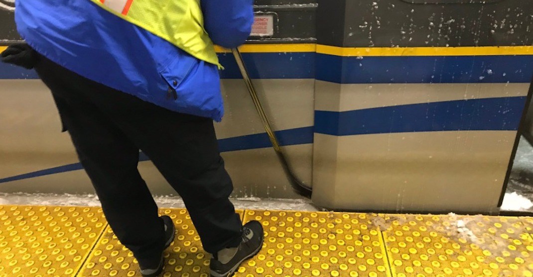 Only in Vancouver: Hockey sticks used to clear ice on public transit (PHOTOS)