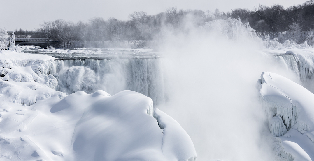 You can enjoy dinner overlooking frozen Niagara Falls on January 31