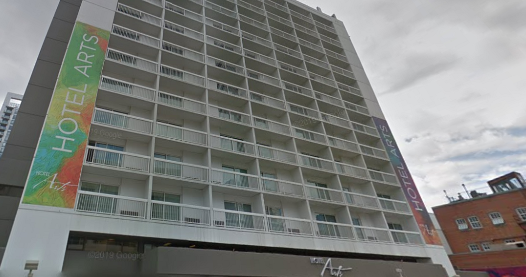 A man was stabbed at Hotel Arts on Tuesday morning: police