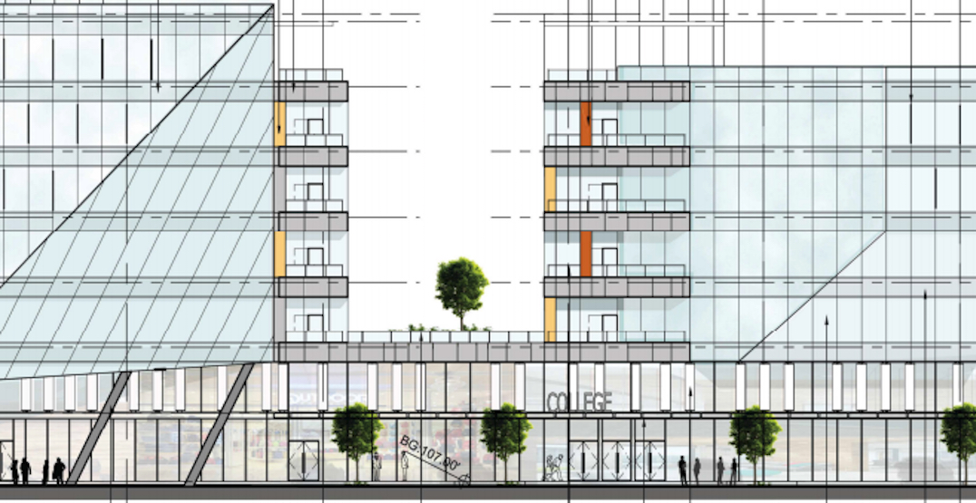 New buildings with college and office proposed next to Renfrew Station