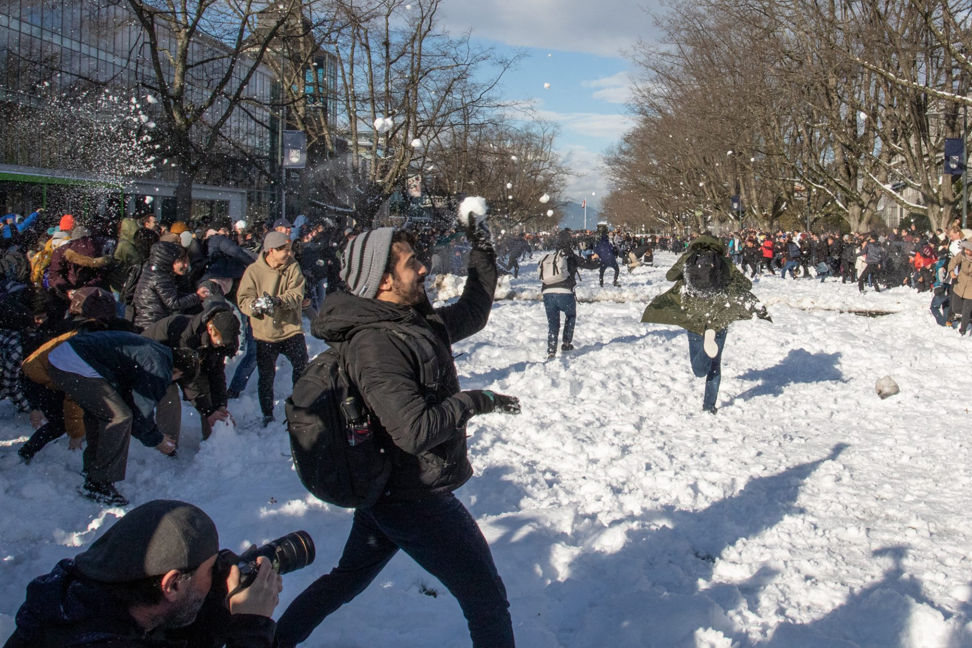 UBC Snowball fight