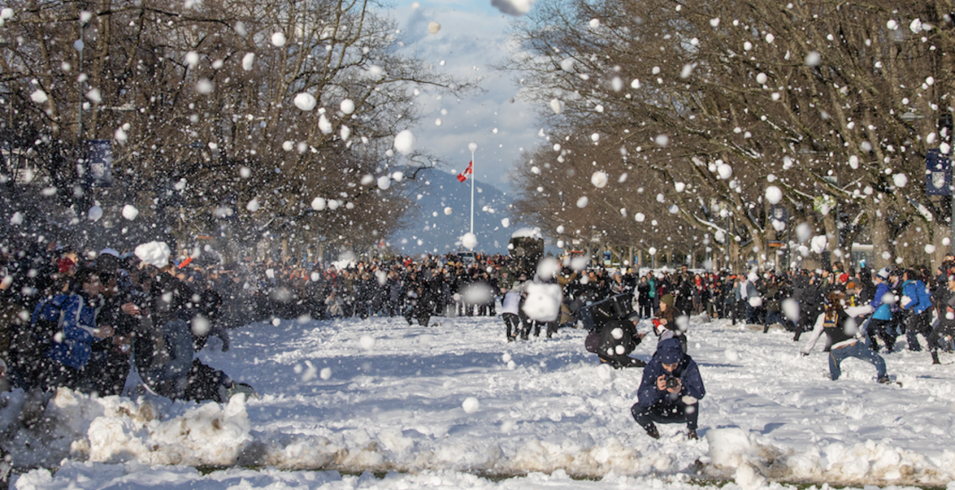 An epic campus-wide snowball fight happened at UBC today (PHOTOS)