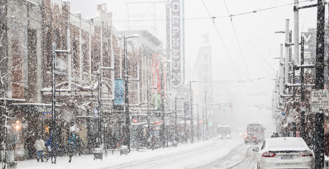 Rain and wet snow in forecast for Vancouver today