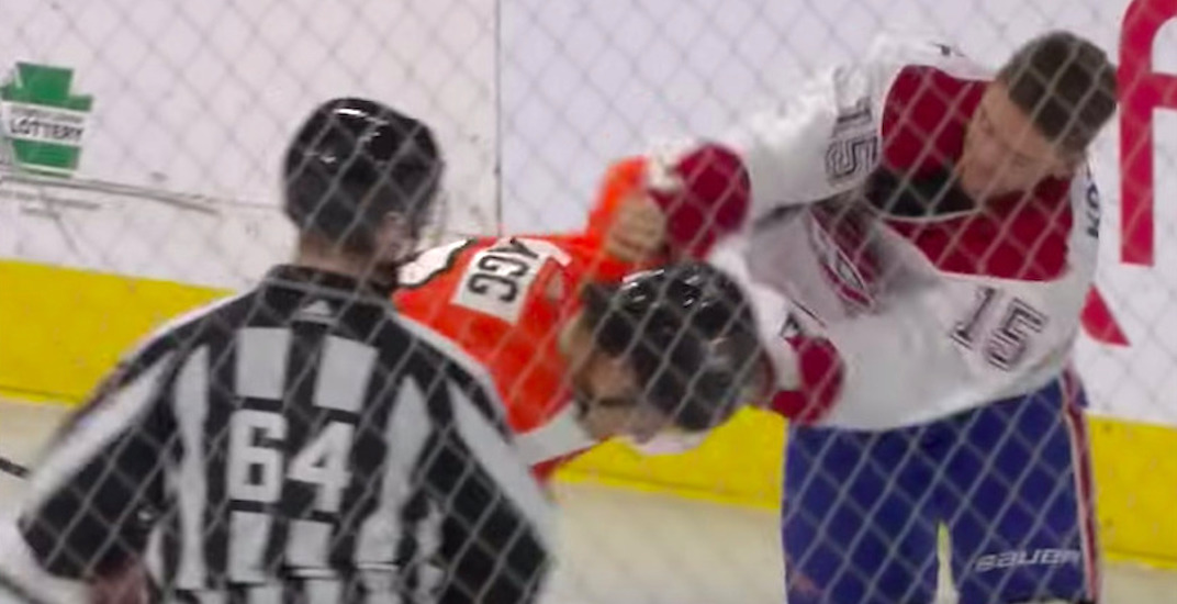 Canadiens fans react to Kotkaniemi's surprising first career fight (VIDEO)