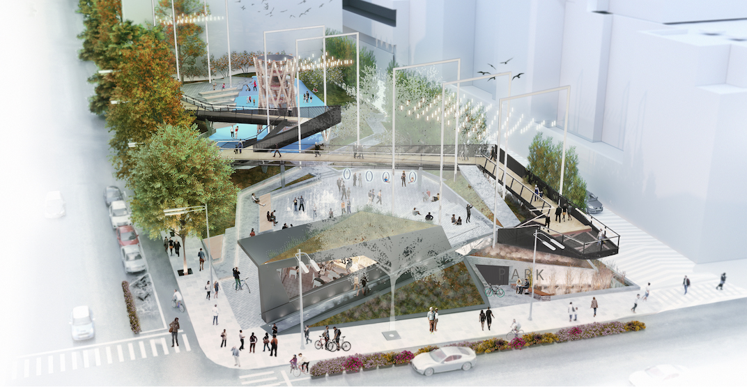 Construction officially begins on new downtown Vancouver urban park